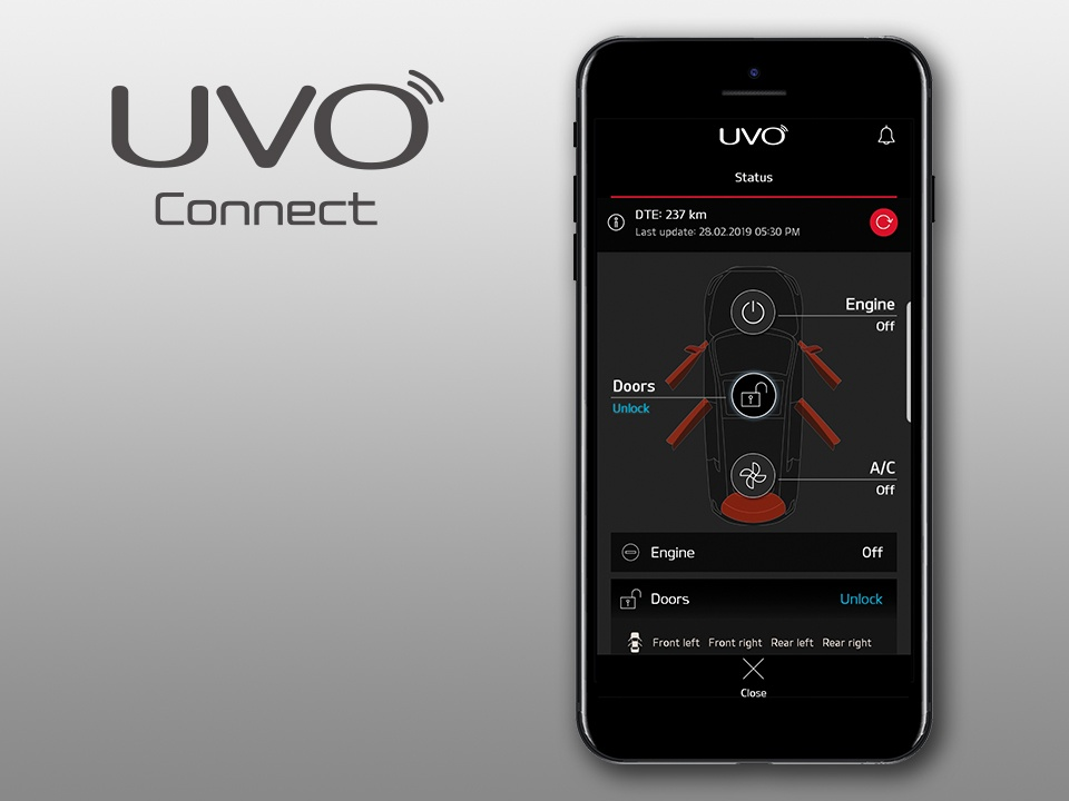 Kia XCeed UVO Connect Services